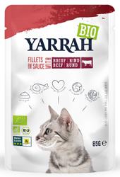 (dla kota dorosłego) fileciki z wołowiną w sosie bio 85 g