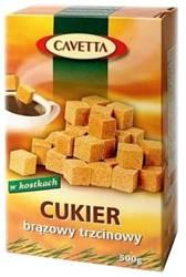 Cukier brązowy trzcinowy w kostkach Cavetta 500 g