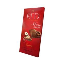 Czekolada RED mleczna bez cukru z orzechami 110 g