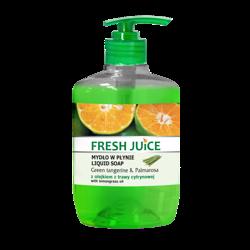 Fresh Juice - Kremowe mydło - Green tangerine & Palmarosa - z olejkiem z trawy cytrynowej, 460ml