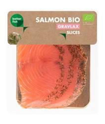 Łosoś atlantycki plastry marynowane z koprem BIO 100 g  (b salmon)