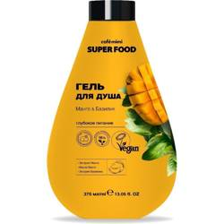 SUPER FOOD Żel pod prysznic, Mango i Bazylia, 370m